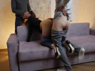 Alohatube 3some amateur cuckold
