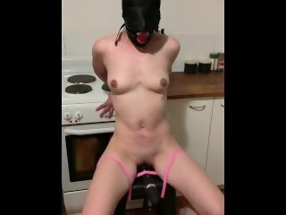Alohatube hooded bondage slave